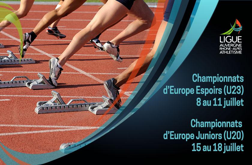 Championnats d'Europe Espoirs et Juniors : 17 sélectionnés au total
